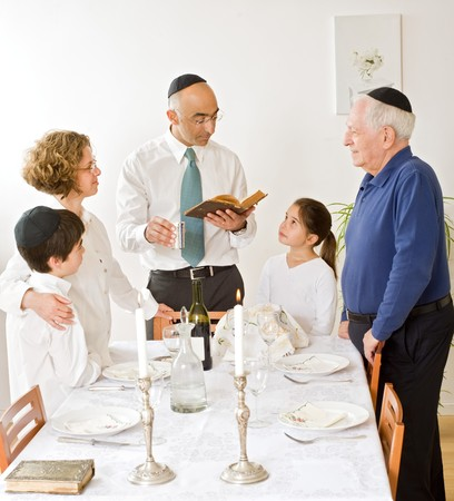 friday evening Jewish family celebration