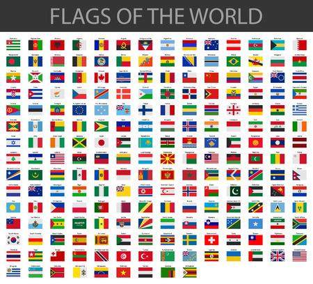 Ilustración de world flags vector - Imagen libre de derechos