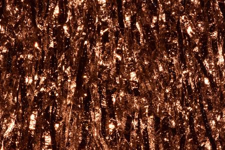 Foto de Plastic sheet metal shiny. When it hits light it will reflect. Put together Use as a beautiful backdrop. Feel like a metal or copper curtain. - Imagen libre de derechos