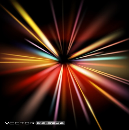abstract night lights vector background