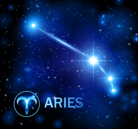 horoscope star sign - aries constellation mural