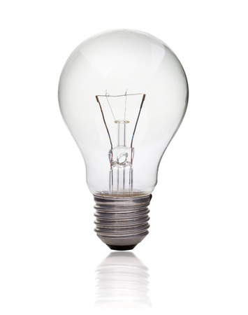 Photo pour Light bulb isolated on white, Realistic photo image - image libre de droit
