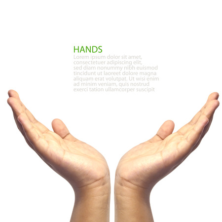 Photo pour Two hands facing upword - image libre de droit
