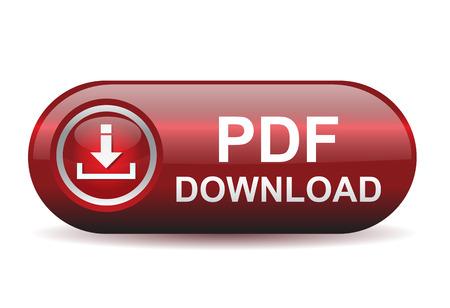 Illustration pour Nice and glossy pdf download button - image libre de droit