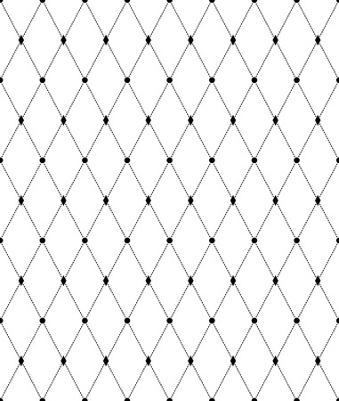 Illustration pour Black and white geometric seamless pattern with line and diamond. Abstract background. Vector seamless pattern. - image libre de droit
