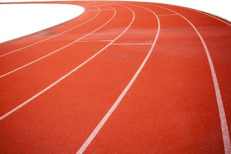 Curve line on running track