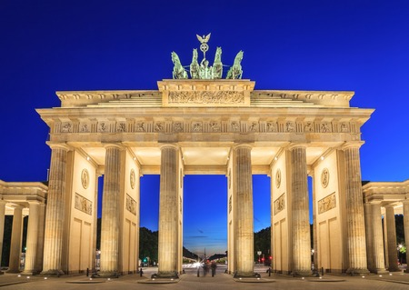 Foto de Brandenburg gate of Berlin, Germany - Imagen libre de derechos