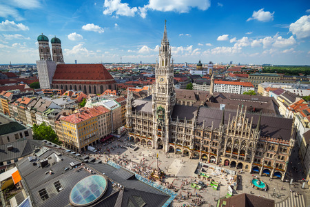 Foto de Marienplatz town hall - Munich - Germany - Imagen libre de derechos