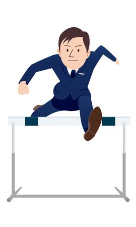 Ilustración de Beyond hurdles. - Imagen libre de derechos