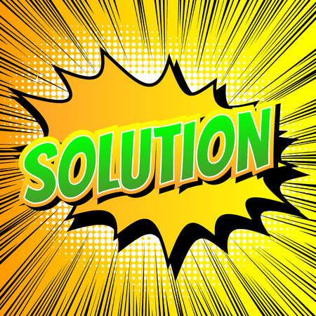 Illustration pour Solution - Comic book style word on comic book abstract background. - image libre de droit