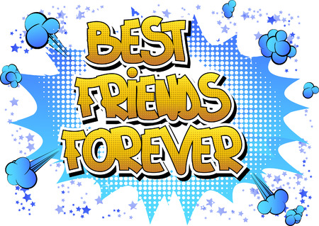 Illustration pour Best friends forever - Comic book style word on comic book abstract background. - image libre de droit