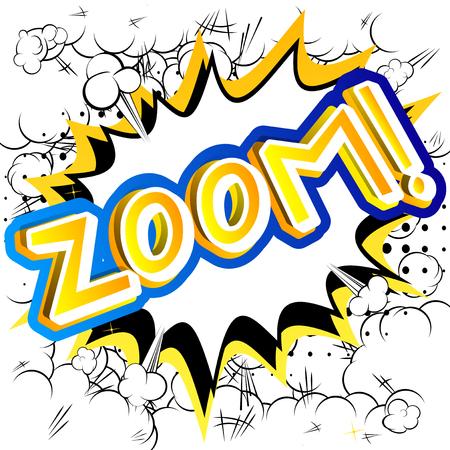 Ilustración de Zoom! - Vector illustrated comic book style expression. - Imagen libre de derechos