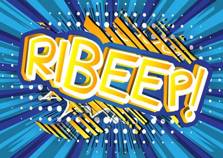 Ilustración de Ribeep! - illustrated comic book style expression. - Imagen libre de derechos