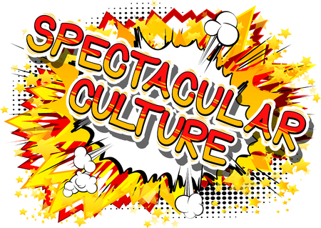 Illustration pour Spectacular Culture - Comic book style phrase on abstract background. - image libre de droit