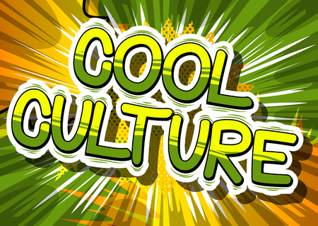 Illustration pour Cool Culture - Comic book style phrase on abstract background. - image libre de droit