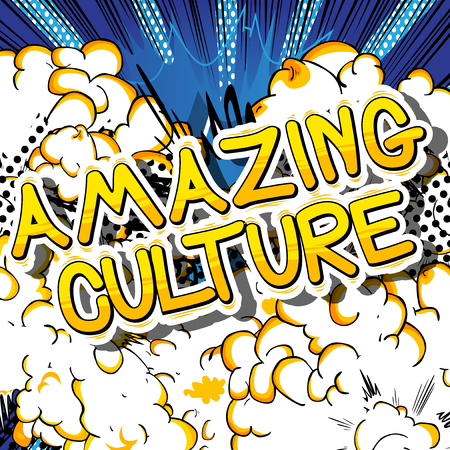 Illustration pour Amazing Culture - Comic book style phrase on abstract background. - image libre de droit