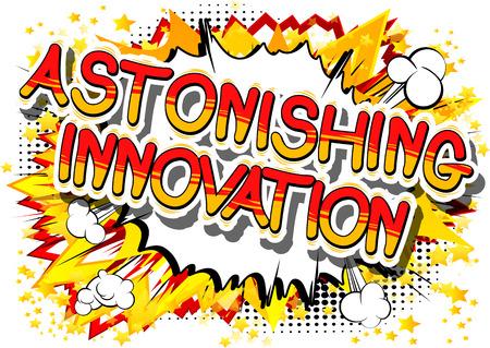 Illustration pour Astonishing innovation a comic book design. - image libre de droit