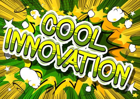 Illustration pour Cool innovation a comic book design. - image libre de droit