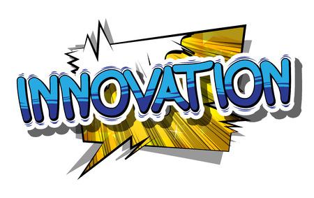 Illustration pour Innovation in a comic book design. - image libre de droit