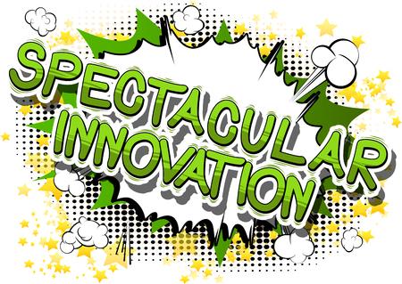 Illustration pour Spectacular Innovation in a comic book design. - image libre de droit