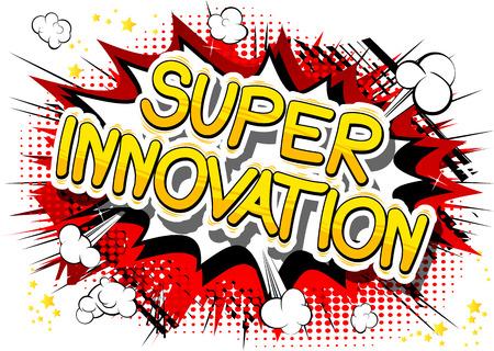 Illustration pour Super Innovation in a comic book design. - image libre de droit