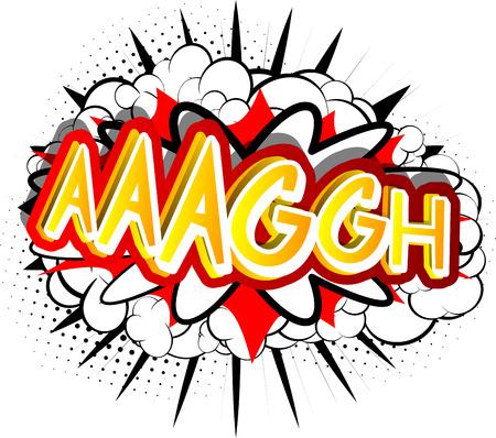 Ilustración de Aaaggh - Vector illustrated comic book style expression. - Imagen libre de derechos