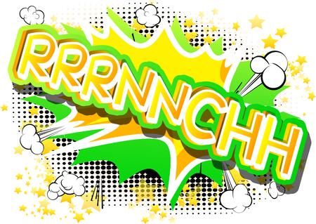 Ilustración de Rrrnnchh - illustrated comic book style expression. - Imagen libre de derechos
