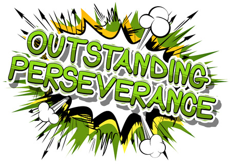 Ilustración de Outstanding Perseverance - Comic book word on abstract background. - Imagen libre de derechos