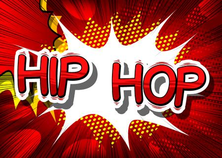 Ilustración de Hip Hop - Comic book word on abstract background. - Imagen libre de derechos