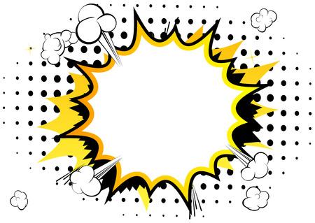 Ilustración de Vector illustrated comic book style background with speech bubbles. - Imagen libre de derechos
