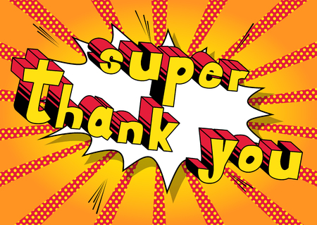 Illustration for Super Thank You - Royalty Free Image