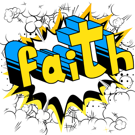 Illustration for Faith in Comic book style word - Royalty Free Image