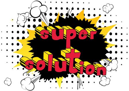 Illustration for Super Solution - word art. - Royalty Free Image