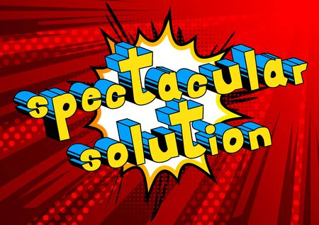Illustration for Spectacular Solution - word art. - Royalty Free Image