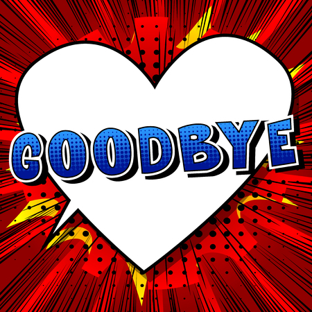 Illustration pour Goodbye - Comic book style phrase on abstract background. - image libre de droit