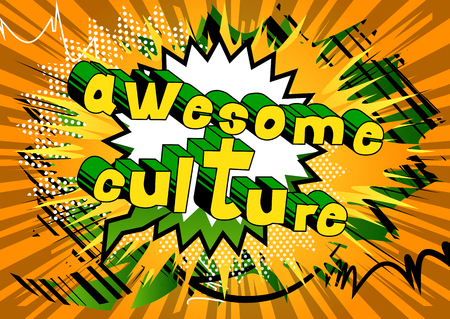 Illustration pour Awesome Culture - Comic book style phrase on abstract background. - image libre de droit