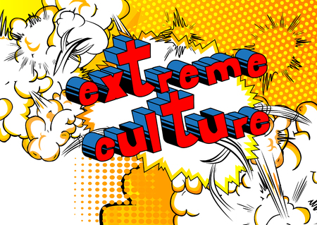 Illustration pour Extreme Culture - Comic book style phrase on abstract background. - image libre de droit