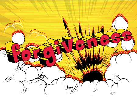 Ilustración de Forgiveness Comic book style phrase vector illustration - Imagen libre de derechos