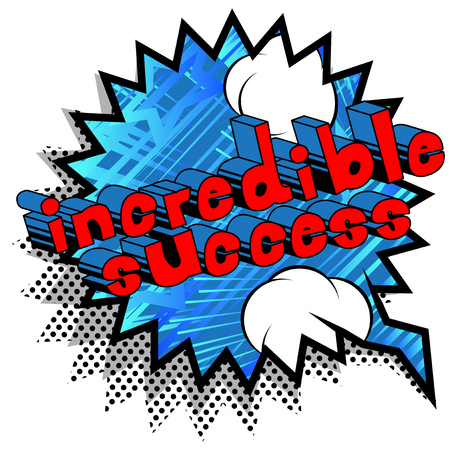 Illustration pour Incredible Success - Comic book word on abstract background. - image libre de droit