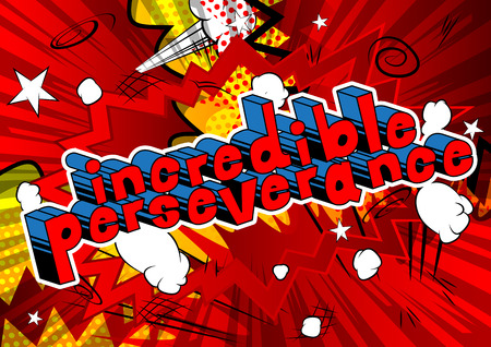 Ilustración de Incredible Perseverance - Comic book word on abstract background. - Imagen libre de derechos