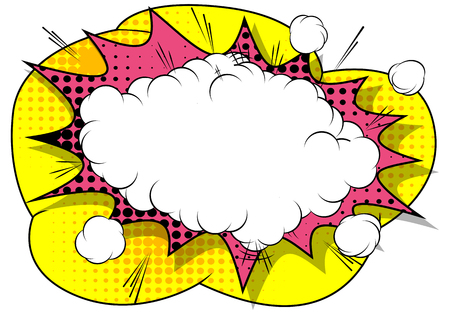 Ilustración de Vector comic book explosion. Comic style cartoon speech bubble for text isolated on white background. - Imagen libre de derechos