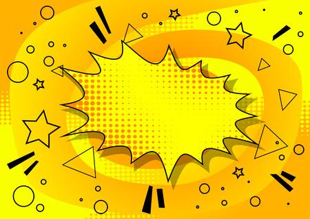 Ilustración de Vector illustrated retro comic background, pop art vintage style abstract background. - Imagen libre de derechos