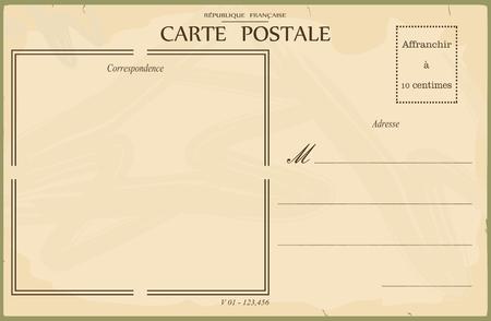 Illustration pour Vintage postcard - image libre de droit