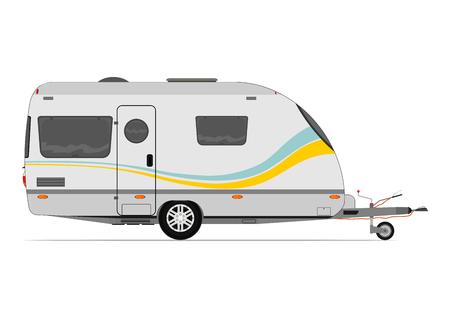 Illustration pour Modern caravan. Vector without gradients on one layer. - image libre de droit