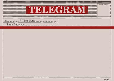 Illustration pour Blank telegram form. Flat vector. - image libre de droit
