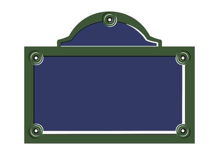 Illustration pour Paris street sign. Flat vector of blank French street plate. - image libre de droit
