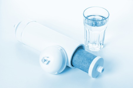 Photo pour inside of white cartridge for water filtration - image libre de droit