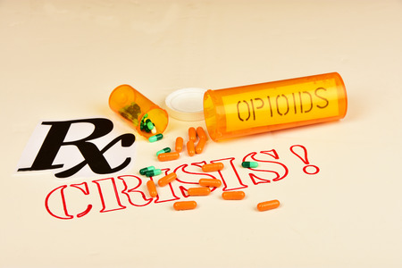 Foto de Signs and symbols of opioid/drug addiction. - Imagen libre de derechos