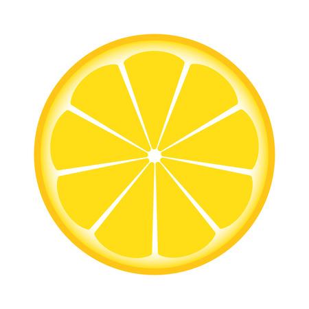 Ilustración de lemon sliced in half - Imagen libre de derechos