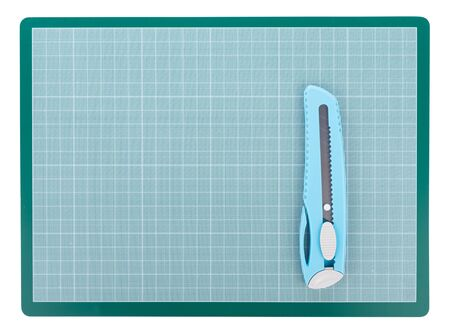 Photo for Green Cutting mat isolated on white background - Royalty Free Image